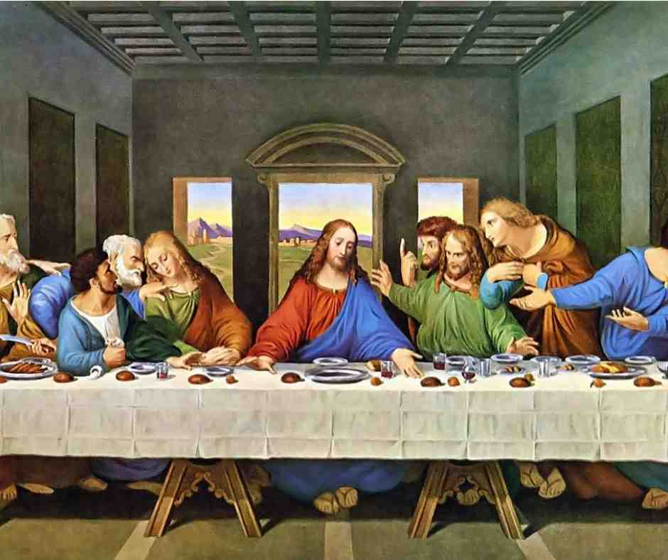 last supper eating
