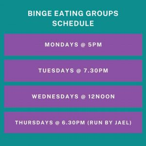 Binge eating therapy groups
